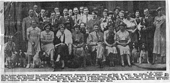 Old Newspaper Cutting featuring members of the London Sporting Society